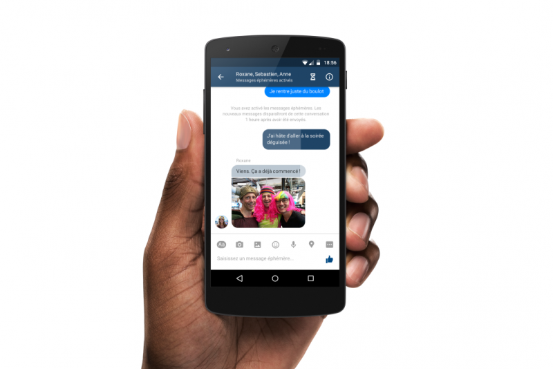 Facebook is testing a Snapchat-style disappearing message feature in its Messenger app
