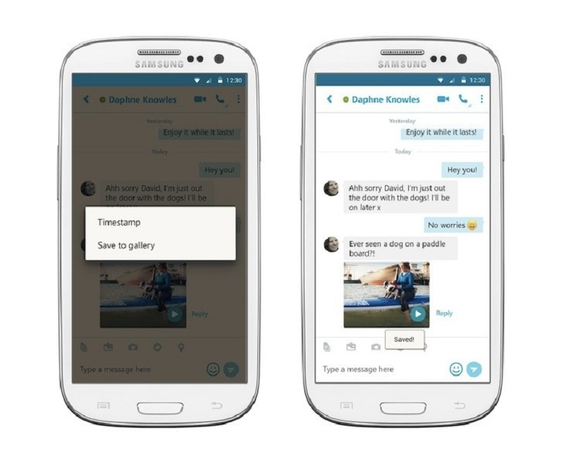 Skype's latest update lets Android users save video messages