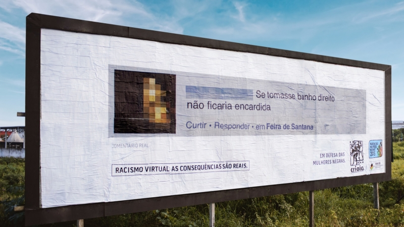 Brazil fights back against racist trolls by plastering their comments on billboards near their homes