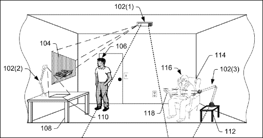 Amazon patents outline vision for headset-free augmented reality