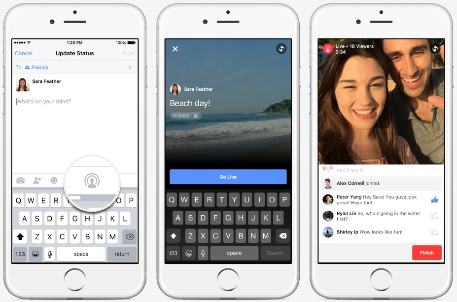 Facebook begins rollout of live video streaming feature to all