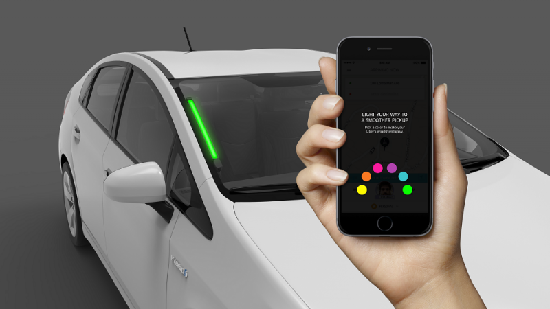 Uber is testing color-coded SPOT lights to help drivers and passengers find each other