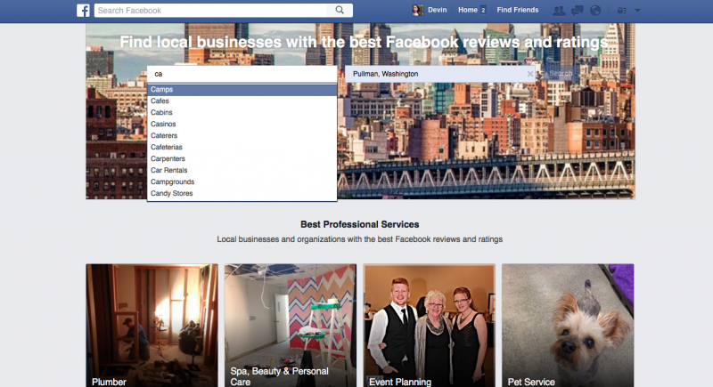 Facebook Professional Services is the wannabe Yelp replacement you didn't know about