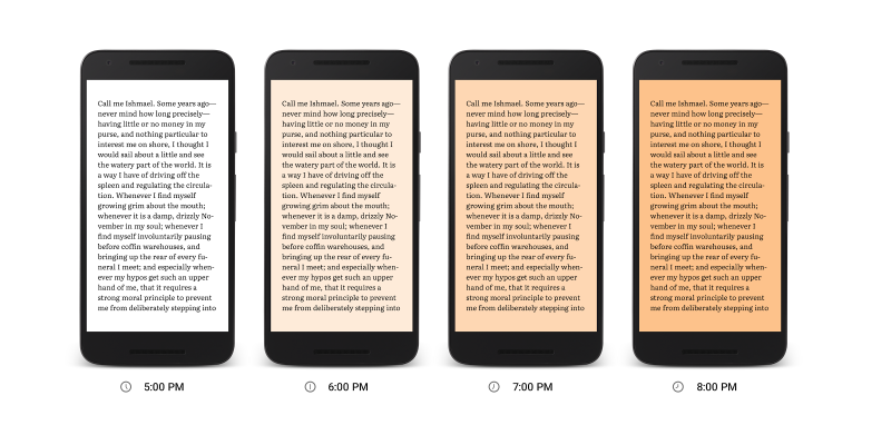 Google Play Books update adds new mode that reduces blue light to help tired eyes