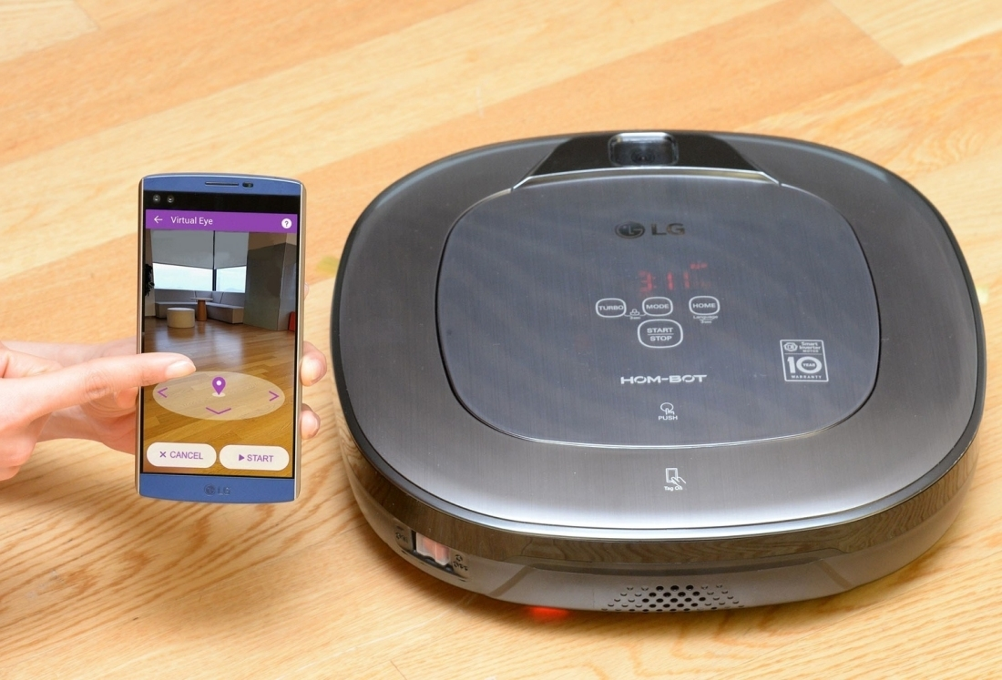 LG's latest robotic vacuum doubles as a home security camera