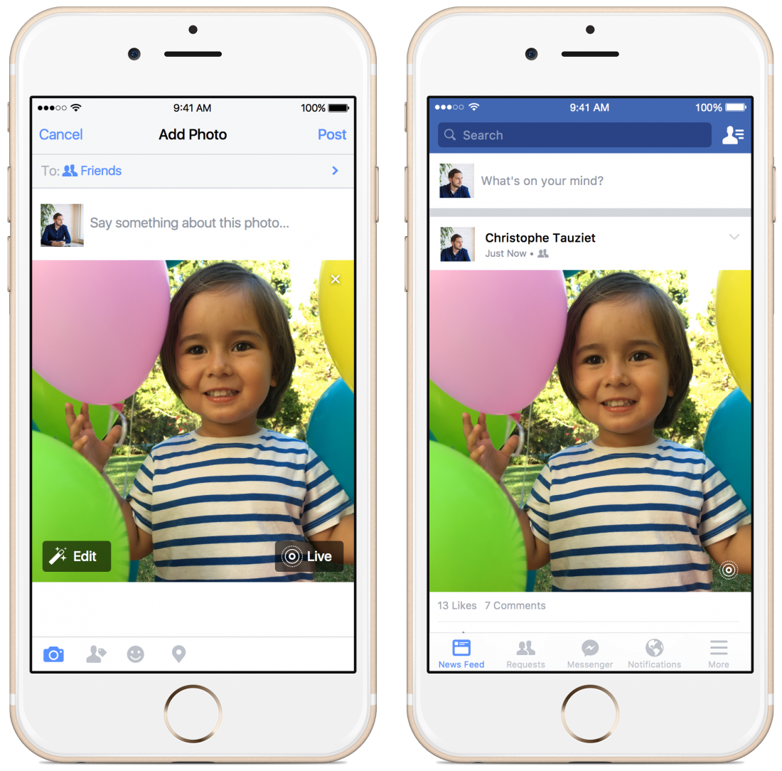 Facebook is adding support for Apple's Live Photos