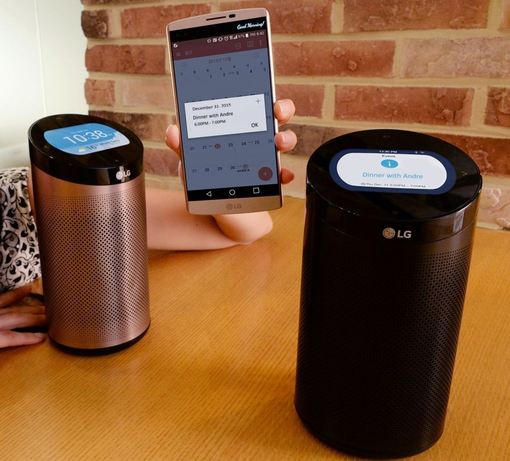 LG's new smart home hub resembles an Amazon Echo but without the digital assistant