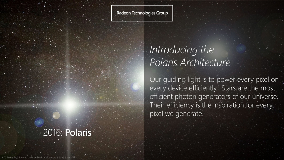AMD announces fourth-generation graphics architecture 'Polaris'