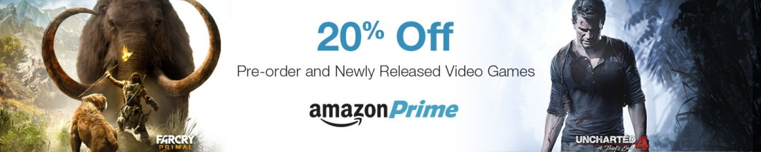 Amazon now offers 20 percent off new game releases for Prime members