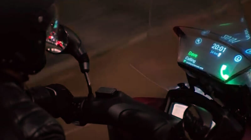Samsung's smart windshield for motorbikes will let you use your smartphone while driving