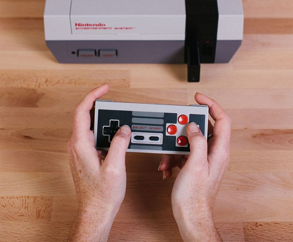 Wireless receiver lets you use a DualShock 4 controller with your original NES
