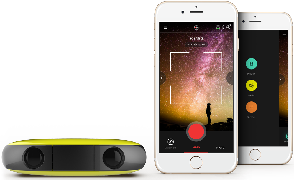 Vuze can capture 3D, 360-degree VR video in 4K at up to