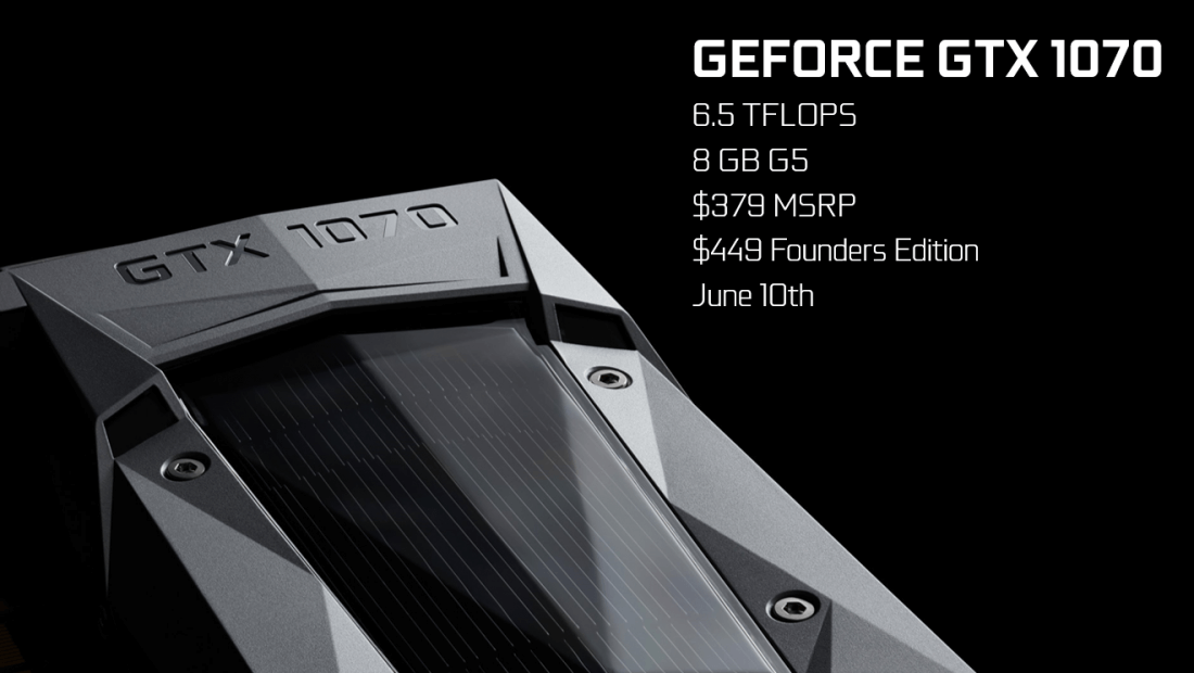 Nvidia releases GeForce GTX 1070 specifications
