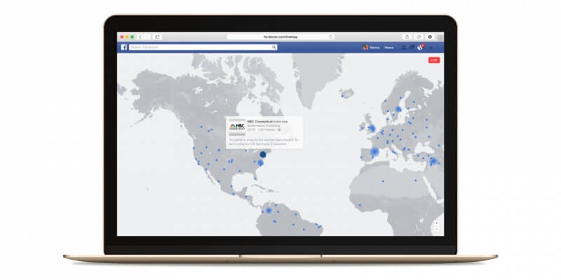 Now you can watch strangers from across the world with Facebook's interactive Live Video map