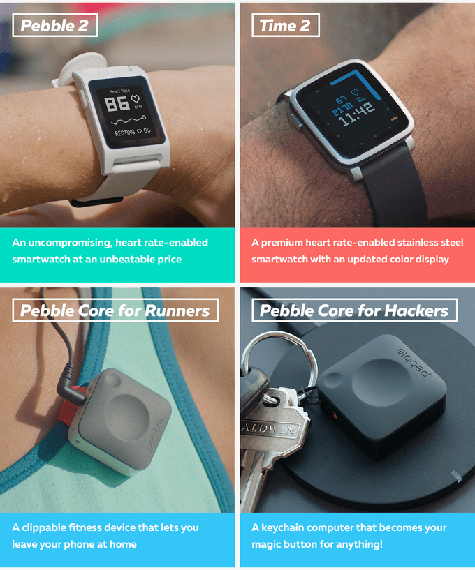 Pebble returns to Kickstarter with three new products
