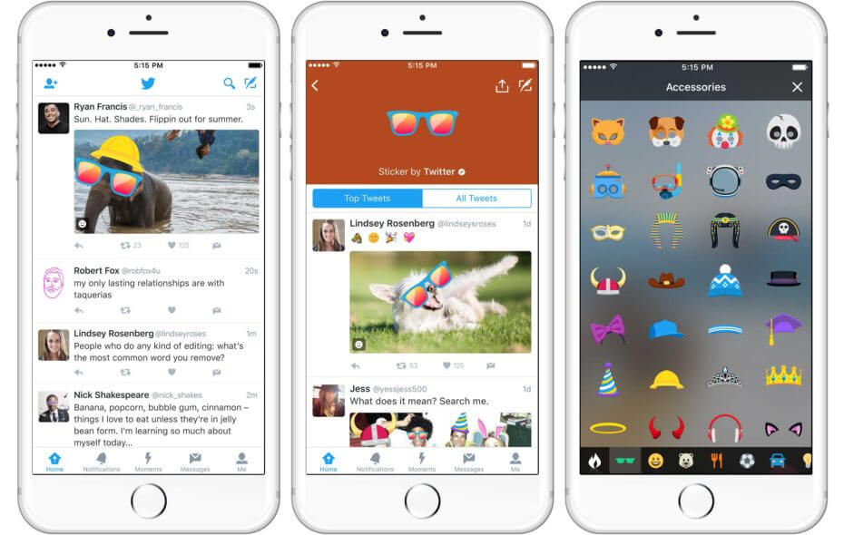 Twitter is introducing stickers for photos that work like visual hashtags