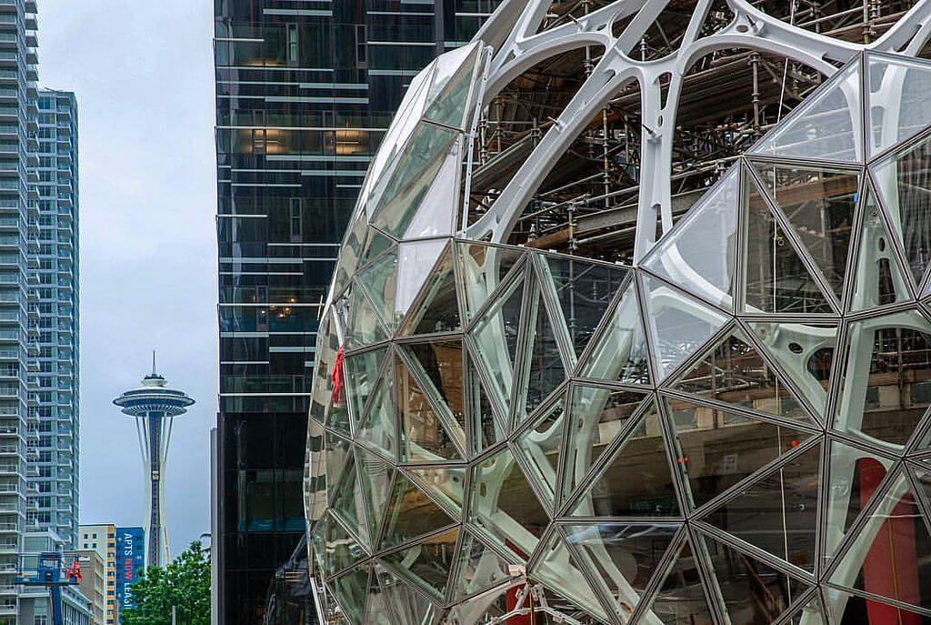 Amazon aims to inspire employees with the three Biospheres it's building at the new company HQ