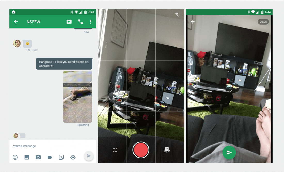 Hangouts for Android gets video messages two years after iOS, drops merged SMS conversations