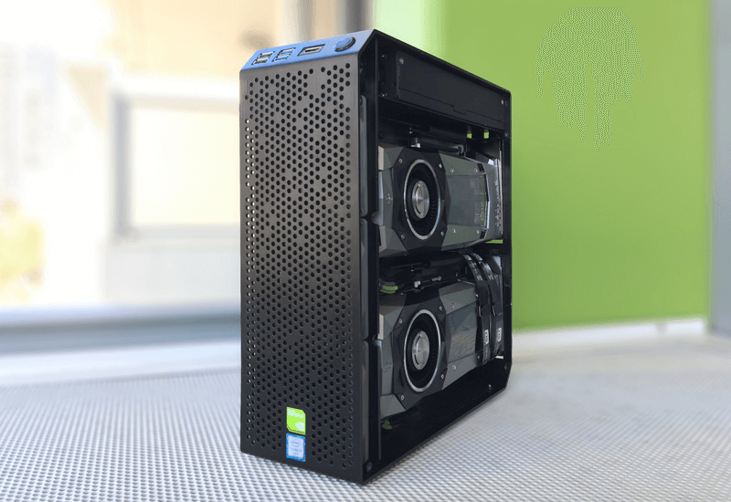 Impressive custom case, barely larger than Xbox One, fits GTX 1080 ...