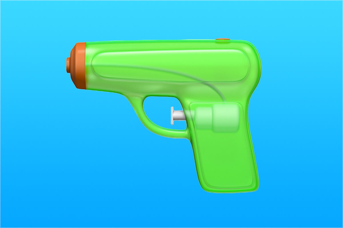 Apple is replacing its revolver emoji with a water pistol