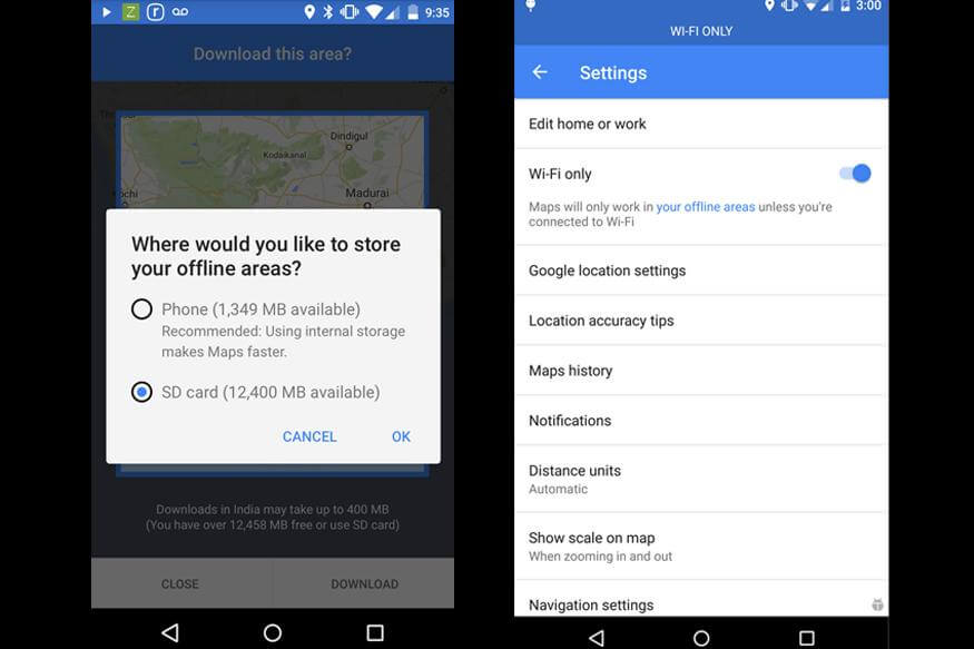 Google Maps for Android gets Wi-Fi-only mode, downloading ... on google sync android, google chrome search, city maps 2go android, google maps android icon, google docs offline android,