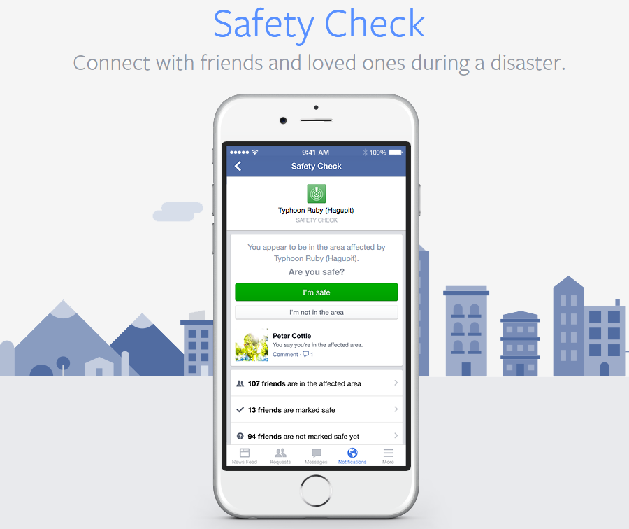 Facebook will eventually let individuals / communities activate Safety Check