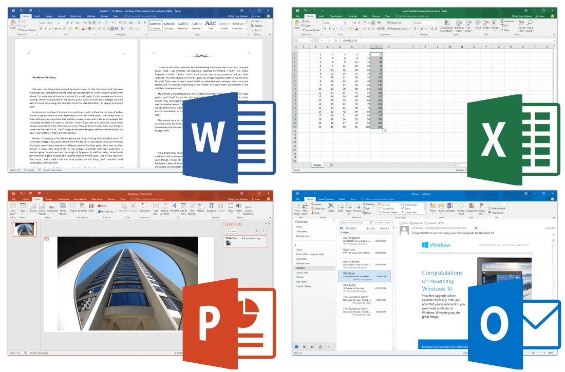 Productivity software, what do you use? Microsoft Office