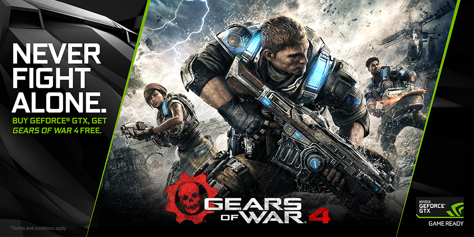 Nvidia's new graphics card game bundle includes Gears of War 4
