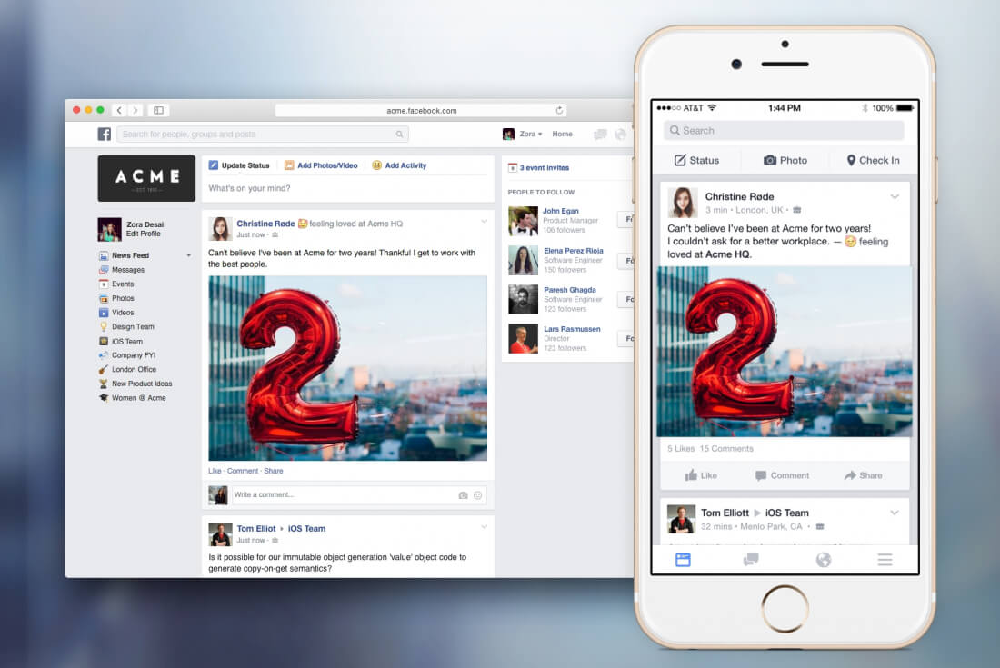 Facebook at Work arriving next month, will now charge per employee