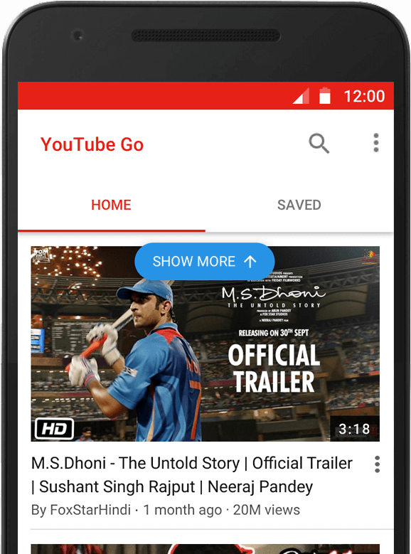 Google unveils new YouTube Go app for users with limited