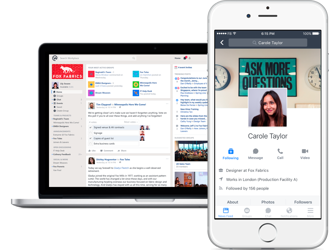 Facebook at Work graduates from beta, officially launches as