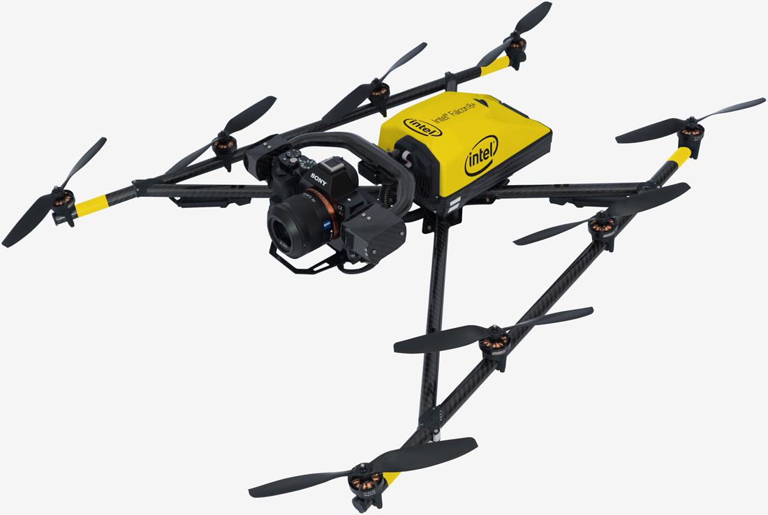 Intel announces Falcon 8+ drone with a top speed of 35 mph (and an awesome controller)