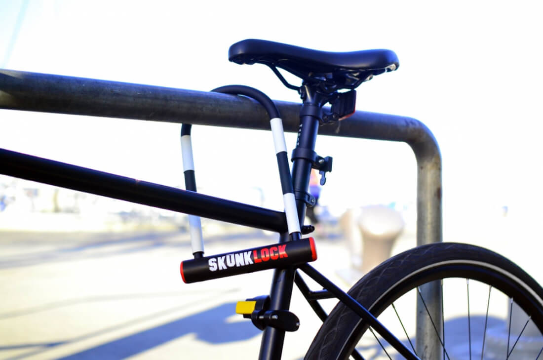 This new bike lock can stop thieves by making them vomit