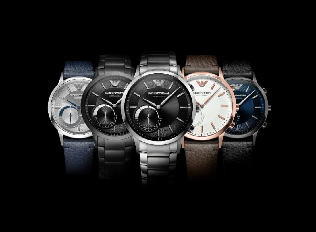 Emporio Armani enters the wearables market with its new hybrid smartwatch