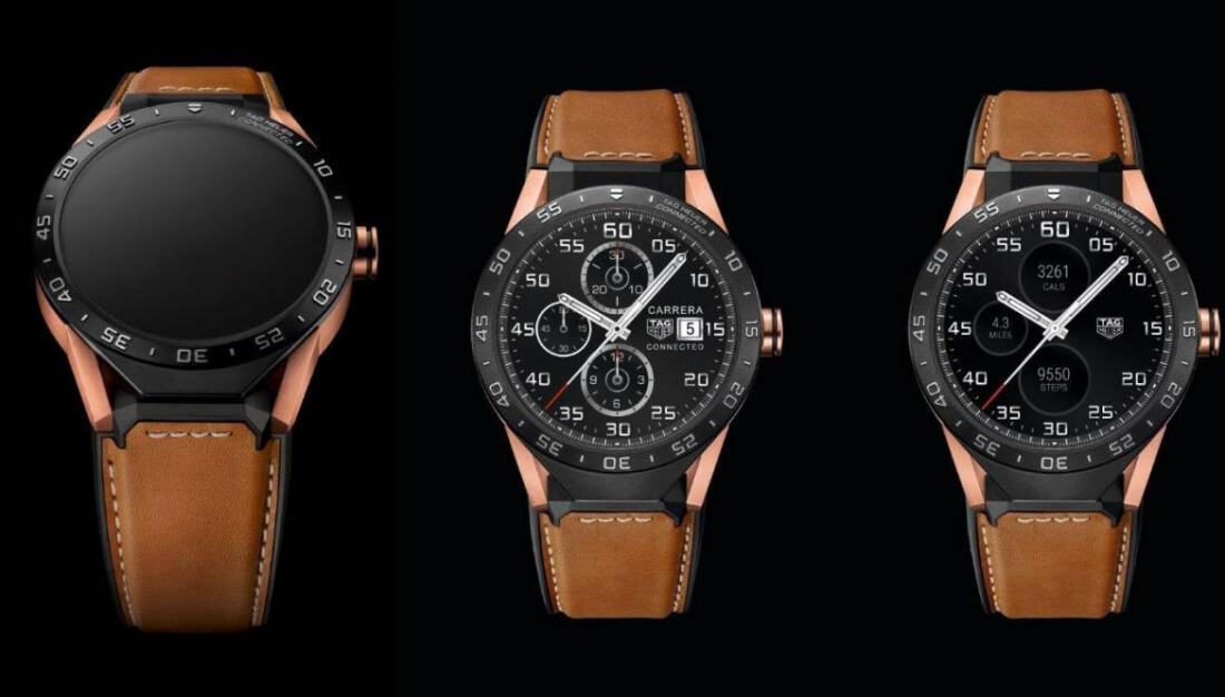 Tag Heuer's rose gold edition of its Connected smartwatch costs $9900