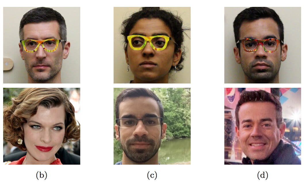 Researchers find way of fooling facial recognition technology using printed glasses