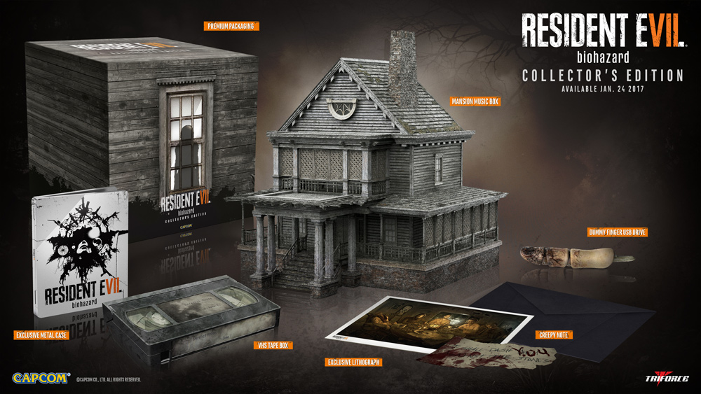 'Resident Evil 7 Collector's Edition' contents detailed