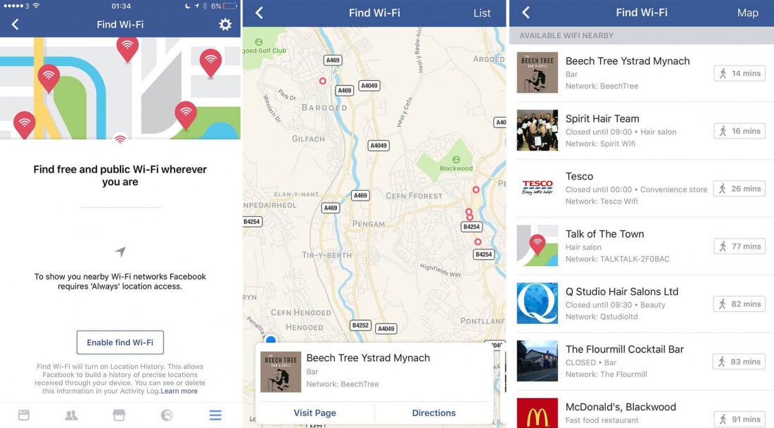 Facebook testing feature that shows you where to find free Wi-Fi