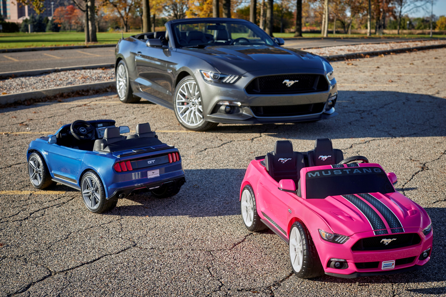 Ford Mustang GT Power Wheels features traction control, stability control and sound system