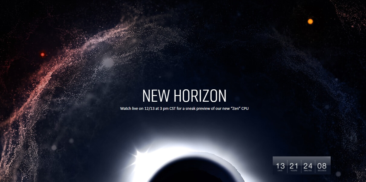 AMD 'New Horizon' event will preview Zen on December 13th
