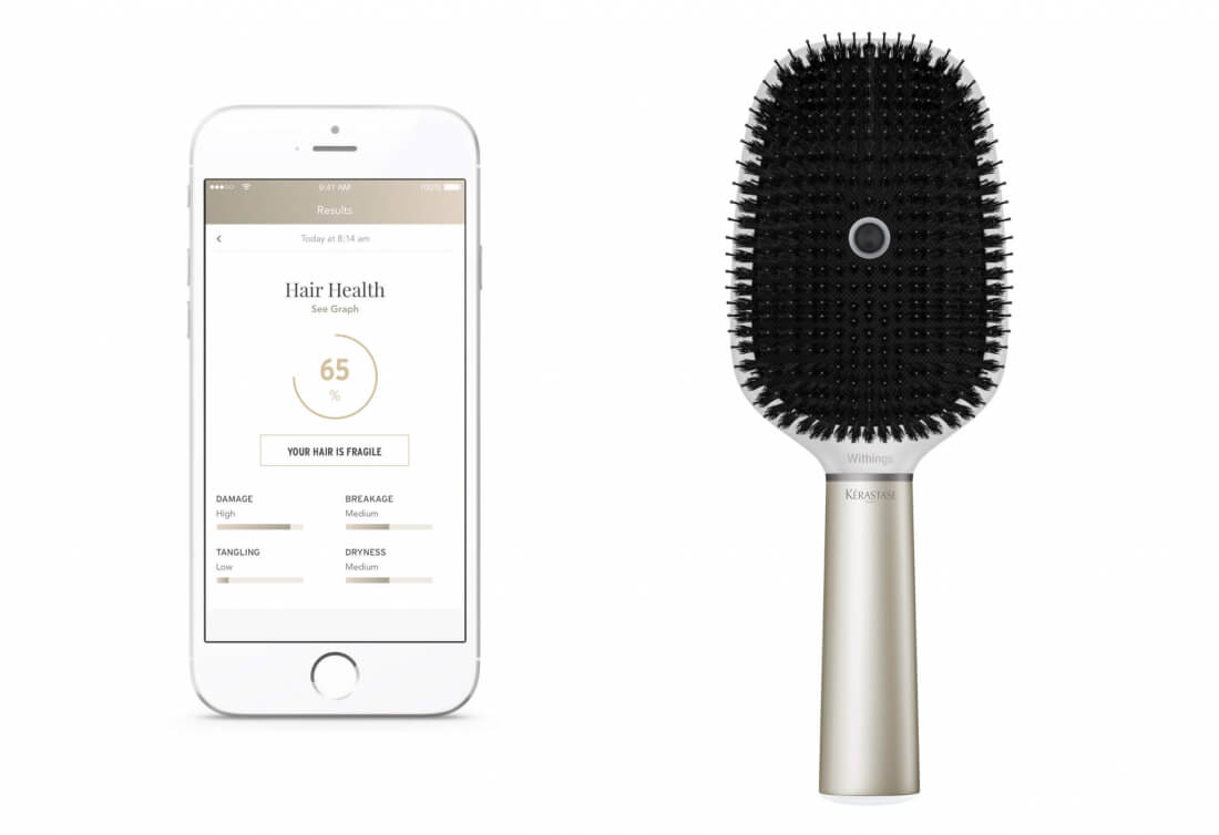 This $200 smart hairbrush from L'Oreal and Withings has won a CES innovation award