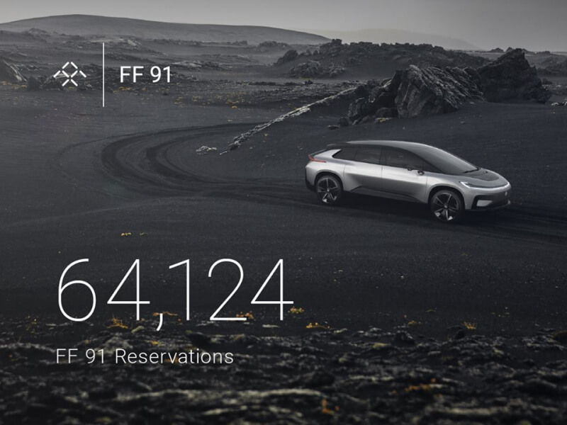 Faraday Future's CES 2017 launch secures 64,000 reservations