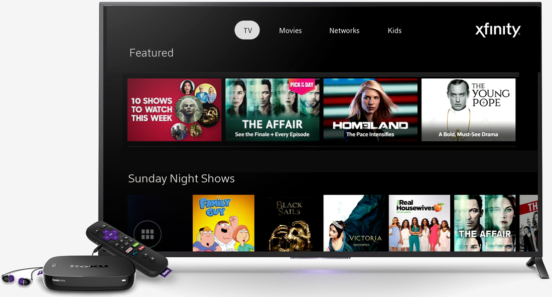 Comcast xfinity tv app lets you watch pay tv on your roku for Mirror xfinity app to tv