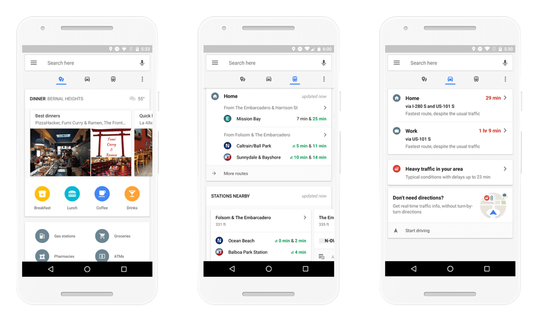 Google Maps on Android redesigned with quick access to