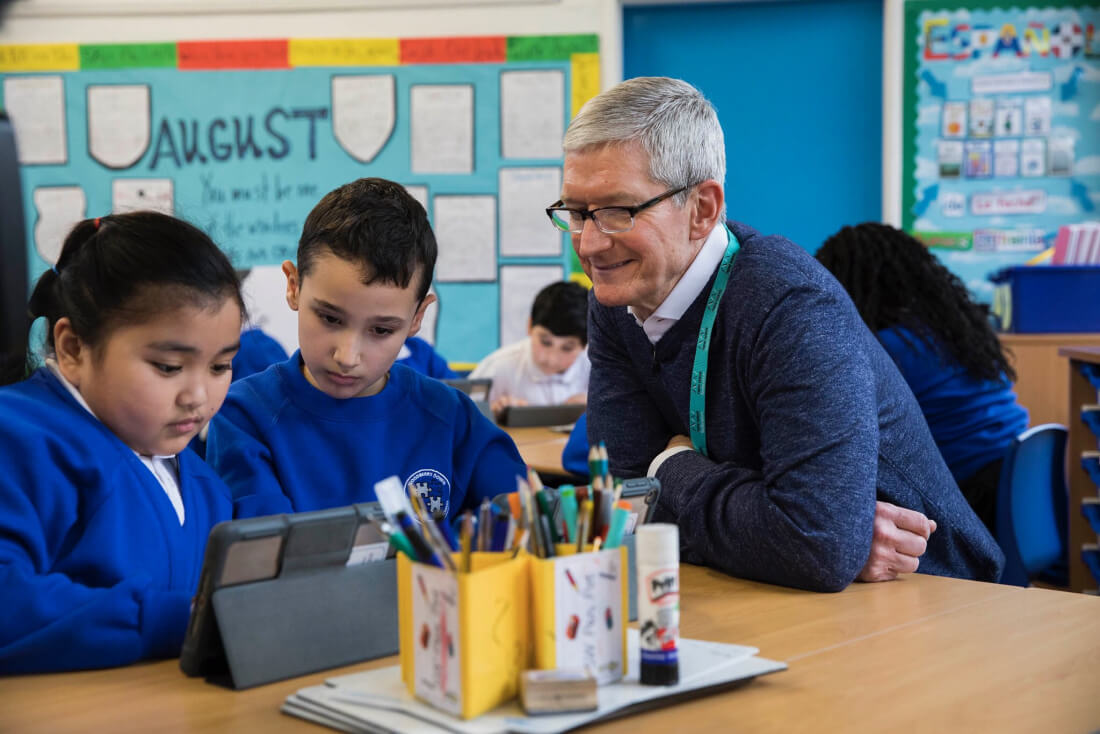 Tim Cook says UK will be fine outside of EU; tells students not to work just for the money