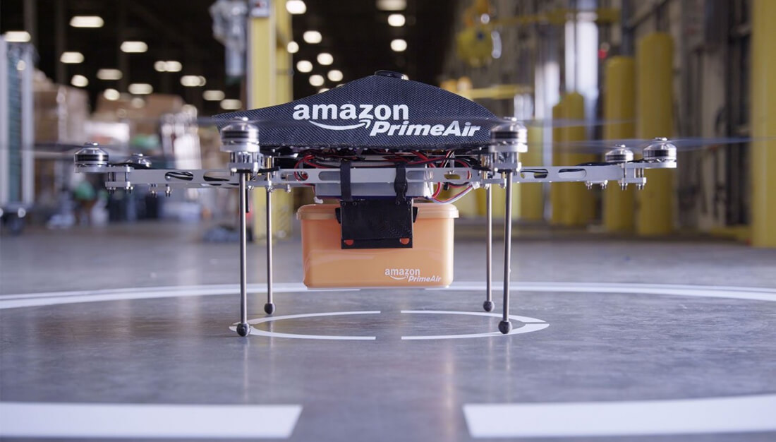 Amazon drone delivery patent describes using parachutes to drop packages from the air