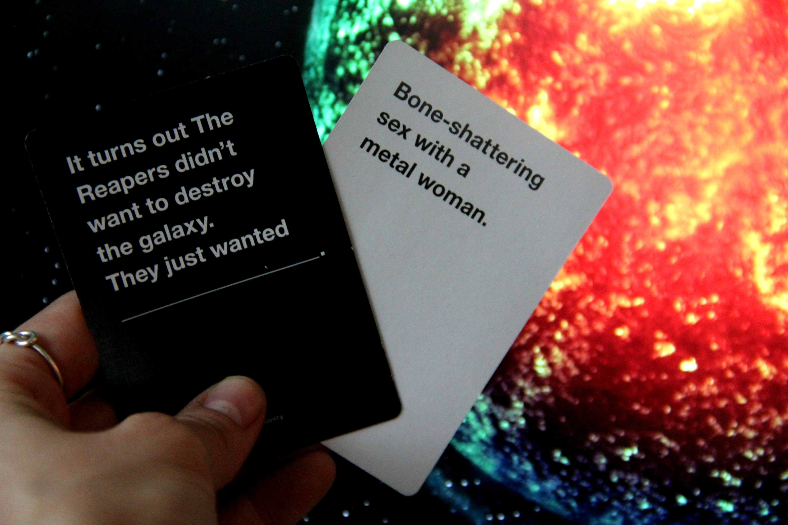 The Mass Effect expansion for Cards Against Humanity is only $1