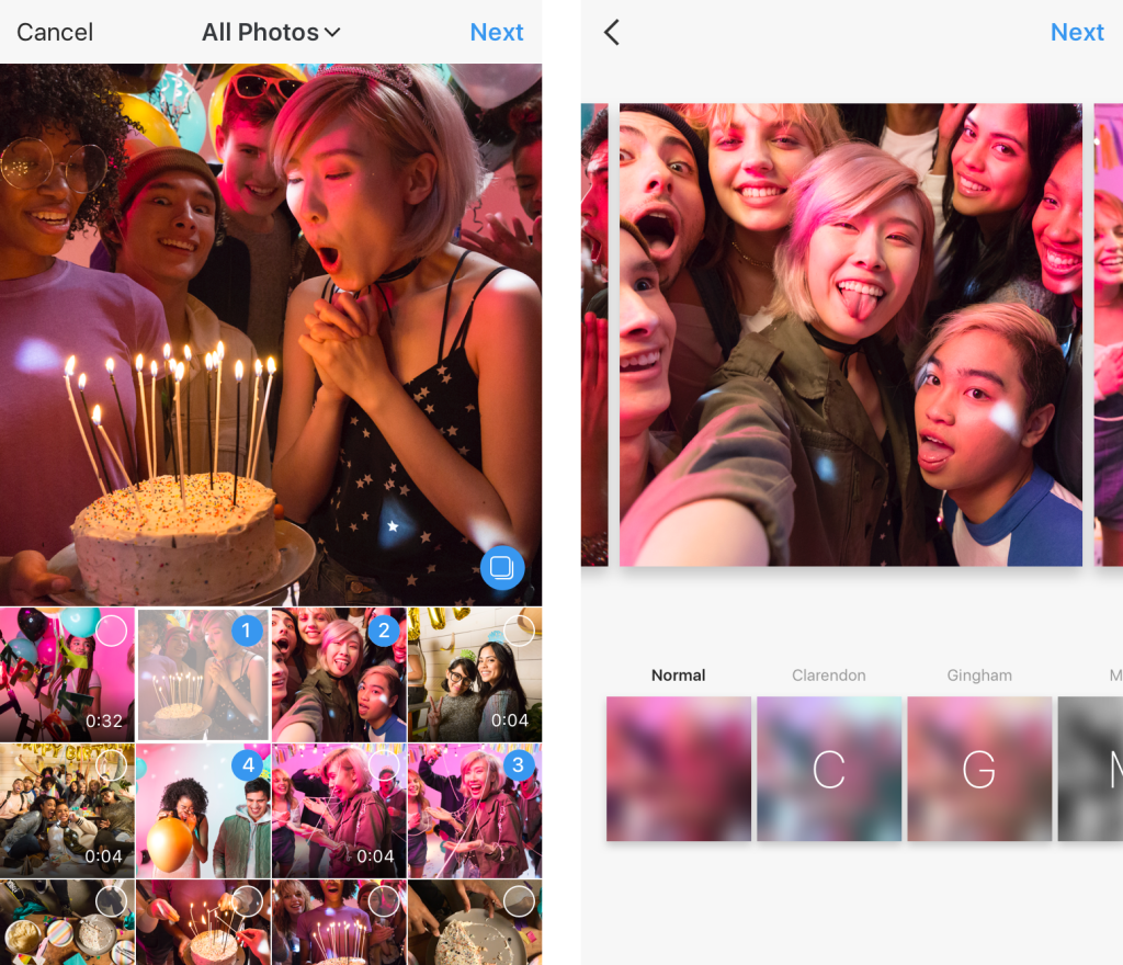 Instagram now lets all users share multiple photos and videos in a single post
