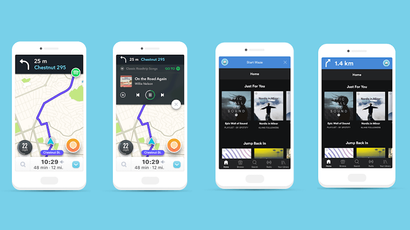 Spotify and Waze integrate navigation and music playback