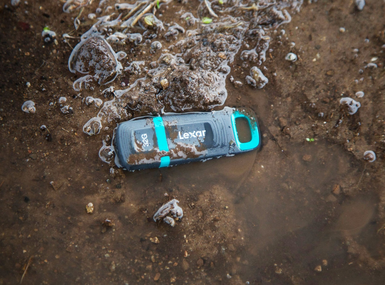 Lexar's latest USB flash drive can withstand the rugged outdoors